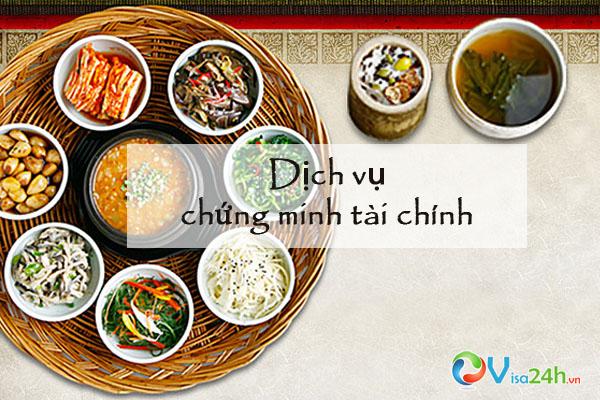 CHUNG MINH TAI CHINH XIN VISA HAN QUOC